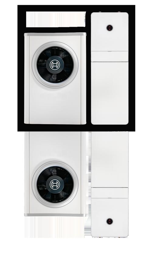 Luft til vand varmepumpe | Bosch, Panasonic, DVI, Vølund og andre mærker.